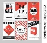 set of mobile banners for... | Shutterstock .eps vector #481917865