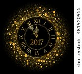 vector 2017 shiny new year clock | Shutterstock .eps vector #481920955