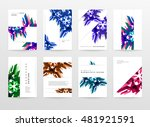 geometric background. template... | Shutterstock .eps vector #481921591