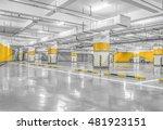 empty space car park interior... | Shutterstock . vector #481923151