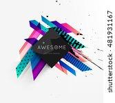 geometric background. template... | Shutterstock .eps vector #481931167