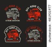 stock vector off road club... | Shutterstock .eps vector #481931977