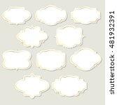vintage labels and frames | Shutterstock .eps vector #481932391