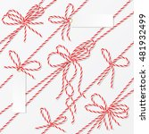 bakers twine bows  ribbons and... | Shutterstock .eps vector #481932499