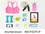sport  fitness  healthy... | Shutterstock . vector #481932919