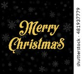 abstract vector merry christmas ... | Shutterstock .eps vector #481937779