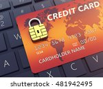 credit card with security chip... | Shutterstock . vector #481942495
