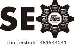 seo iconographic design  glyph...   Shutterstock .eps vector #481944541