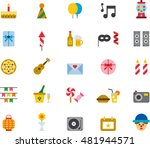 birthday   party colored flat... | Shutterstock .eps vector #481944571
