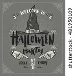 halloween poster or greeting... | Shutterstock .eps vector #481950109