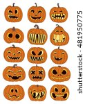 illustration of pumpkins for... | Shutterstock .eps vector #481950775