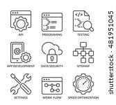 web development icons set  thin ...