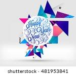 abstract christmas design for... | Shutterstock .eps vector #481953841