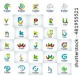 vector set of abstract letter...   Shutterstock .eps vector #481955521