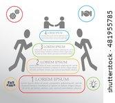 vector infographic pyramid... | Shutterstock .eps vector #481955785