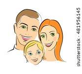 happy family portrait. parents... | Shutterstock .eps vector #481956145