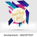 abstract christmas design for... | Shutterstock .eps vector #481957537