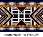 geometric ethnic oriental... | Shutterstock .eps vector #481958029