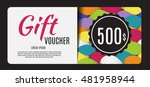 gift voucher template vector... | Shutterstock .eps vector #481958944