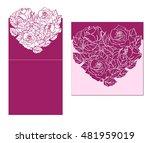 laser cut vector card temlate... | Shutterstock .eps vector #481959019