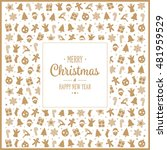 merry christmas gold decoration ... | Shutterstock .eps vector #481959529