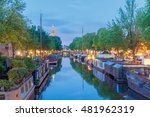 amsterdam. city canal at dawn. | Shutterstock . vector #481962319