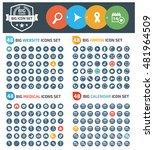 big icons website arrows... | Shutterstock .eps vector #481964509