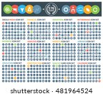 big icons social media finance... | Shutterstock .eps vector #481964524