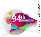 94th anniversary logo  colorful ... | Shutterstock .eps vector #481966705