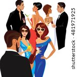 men and women at the party ... | Shutterstock .eps vector #481971925