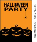 happy halloween poster... | Shutterstock . vector #481976851