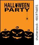 happy halloween poster... | Shutterstock . vector #481976851