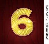 gold light lamp bulb font... | Shutterstock .eps vector #481977841