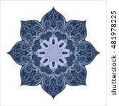 beautiful deco colored contour... | Shutterstock . vector #481978225