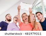 fun bonding selfie concept.... | Shutterstock . vector #481979311