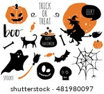 Halloween Set With  Bats ...