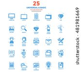 set of modern flat line icon... | Shutterstock .eps vector #481981669
