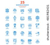 set of modern flat line icon... | Shutterstock .eps vector #481982431
