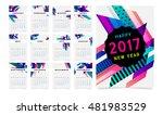 calendar for 2017 with... | Shutterstock .eps vector #481983529