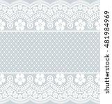 seamless lace pattern  flower... | Shutterstock .eps vector #481984969