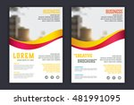 abstract  business  brochure... | Shutterstock .eps vector #481991095