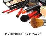 makeup brush and cosmetics  on... | Shutterstock . vector #481991197