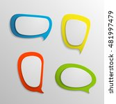 3d infographic colorful banners ... | Shutterstock .eps vector #481997479