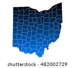 map of ohio | Shutterstock .eps vector #482002729