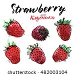 hand drawn watercolor painting...   Shutterstock .eps vector #482003104
