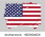 vector usa flag stars and... | Shutterstock .eps vector #482006824