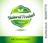natural product badge label... | Shutterstock .eps vector #482007775