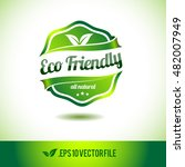 eco friendly badge label seal... | Shutterstock .eps vector #482007949
