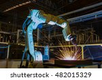 robot welding metal in assembly ... | Shutterstock . vector #482015329