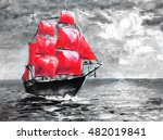 Scarlet Sails  Oil Painting....